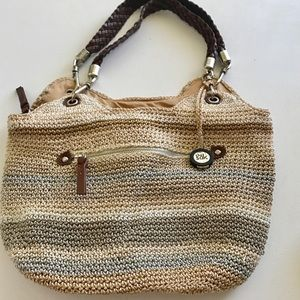 La Sak Multicolor Straw Bag Medium Size